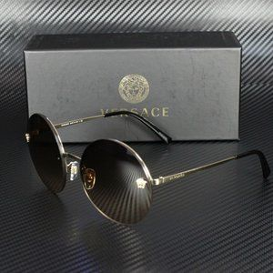 Versace Gold Brown 59mm Sunglasses
